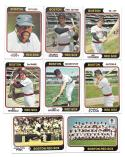 1974 Topps - BOSTON RED SOX Team Set EX Condition