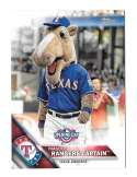 2016 Topps Opening Day Mascots - TEXAS RANGERS