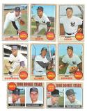 1968 TOPPS - NEW YORK YANKEES 14 card lot