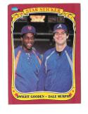1986 Fleer Sticker Combo card Dwight Gooden and Dale Murphy