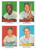 1954 Red Heart Reprints - BROOKLYN DODGERS Team Set