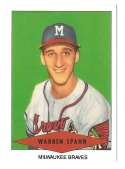 1954 Red Heart Reprints - MILWAUKEE BRAVES Team Set