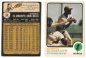 1973 O-Pee-Chee (OPC) VG-EX+ PITTSBURGH PIRATES Team Set w/ Clemente