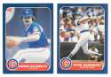 1986 FLEER - CHICAGO CUBS Team Set