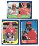 1986 FLEER - CINCINNATI REDS Team Set