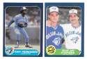 1986 FLEER - TORONTO BLUE JAYS Team Set