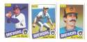 1985 O-Pee-Chee (OPC) - MILWAUKEE BREWERS Team Set