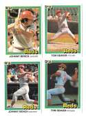 1981 DONRUSS - CINCINNATI REDS Team Set