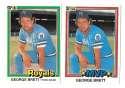 1981 DONRUSS - KANSAS CITY ROYALS Team Set