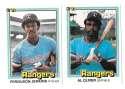 1981 DONRUSS - TEXAS RANGERS Team Set
