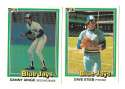 1981 DONRUSS - TORONTO BLUE JAYS Team Set