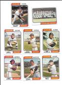 1974 Topps - CLEVELAND INDIANS Team Set EX Condition Perry Creased