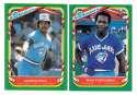 1987 Fleer Sticker - TORONTO BLUE JAYS Team Set