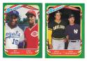 1987 Fleer Sticker - Checklist 2 card set