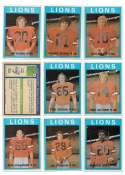1972 O-Pee-Chee CFL Team Set - BC (British Columbia) Lions