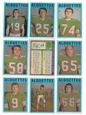 1972 O-Pee-Chee CFL Team Set - Montreal Alouettes