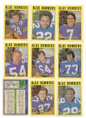 1972 O-Pee-Chee CFL Team Set - Winnipeg Blue Bombers