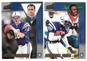1998 Pacific Aurora Football Team Set - INDIANAPOLIS COLTS