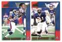 1998 Pacific Aurora Football Team Set - NEW YORK GIANTS