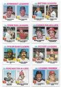 1977 Topps C - 8 card League Leaders subset