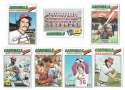 1977 Topps C - ST LOUIS CARDINALS Team Set