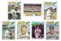 1977 Topps C - PITTSBURGH PIRATES Team Set