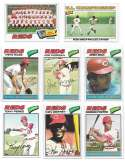 1977 Topps C - CINCINNATI REDS Team Set