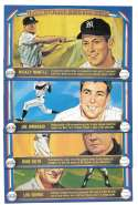 1982 Davco Hall of Fame (4x7) - NEW YORK YANKEES Team Set