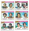 1977 Topps Football (B) - 6 card League Leaders set