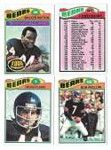 1977 Topps Football (B) Team Set - CHICAGO BEARS