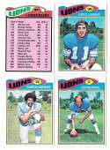 1977 Topps Football (B) Team Set - DETROIT LIONS