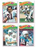1977 Topps Football (B) Team Set - MIAMI DOLPHINS