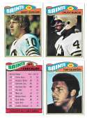 1977 Topps Football (B) Team Set - NEW ORLEANS SAINTS