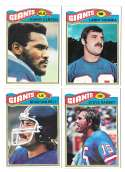 1977 Topps Football (B) Team Set - NEW YORK GIANTS