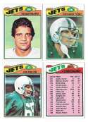 1977 Topps Football (B) Team Set - NEW YORK JETS