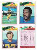 1977 Topps Football (B) Team Set - SAN DIEGO CHARGERS