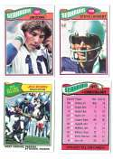 1977 Topps Football (B) Team Set - SEATTLE SEAHAWKS