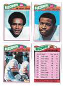 1977 Topps Football (B) Team Set - TAMPA BAY BUCCANEERS