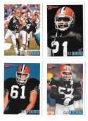 1993 Bowman Football Team Set - CLEVELAND BROWNS