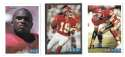 1993 Bowman Football Team Set - KANSAS CITY CHIEFS