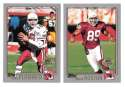 2001 Topps Collections Football Team Set - ARIZONA CARDINALS