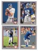 2001 Topps Collections Football Team Set - NEW YORK GIANTS