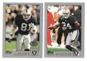 2001 Topps Collections Football Team Set - OAKLAND RAIDERS