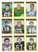 1972 Topps Football Team Set (1-263) - GREEN BAY PACKERS