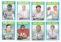 1972 Topps Football Team Set (1-263) - HOUSTON OILERS