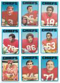 1972 Topps Football Team Set (1-263) - KANSAS CITY CHIEFS