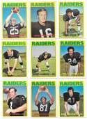 1972 Topps Football Team Set (1-263) - OAKLAND RAIDERS
