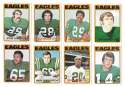 1972 Topps Football Team Set (1-263) - PHILADELPHIA EAGLES