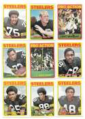 1972 Topps Football Team Set (1-263) - PITTSBURGH STEELERS
