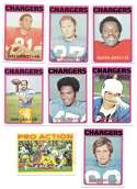 1972 Topps Football Team Set (1-263) - SAN DIEGO CHARGERS